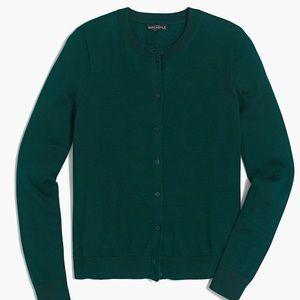 Green J.Crew Factory/Mercantile Caryn cardigan